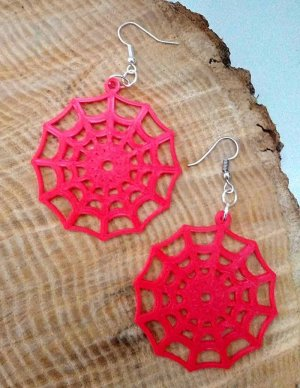 Spiders Web Earrings Preview Image