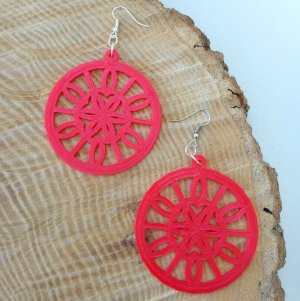 Mandala Stained Glass Earrings Preview Image