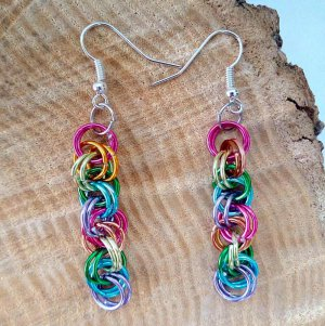 Rainbow Maille Earrings Preview Image